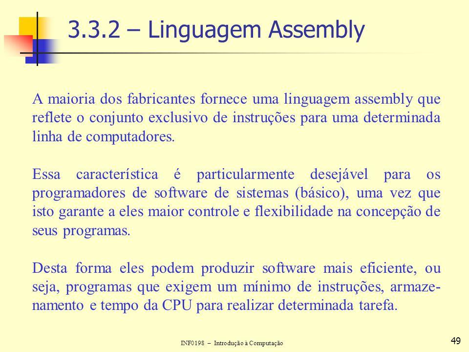 3.3.2 – Linguagem Assembly