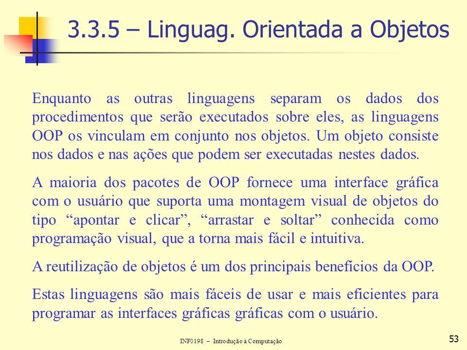 3.3.5 – Linguag. Orientada a Objetos