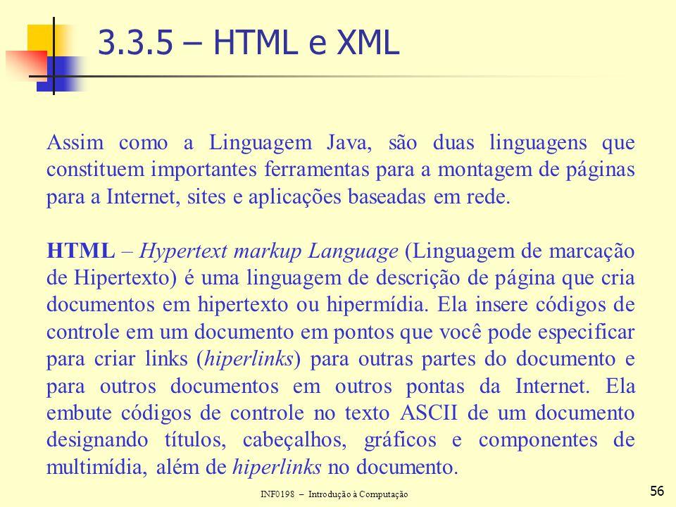 3.3.5 – HTML e XML