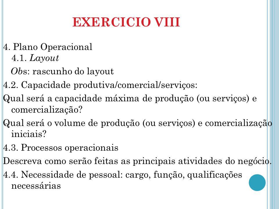 EXERCICIO VIII