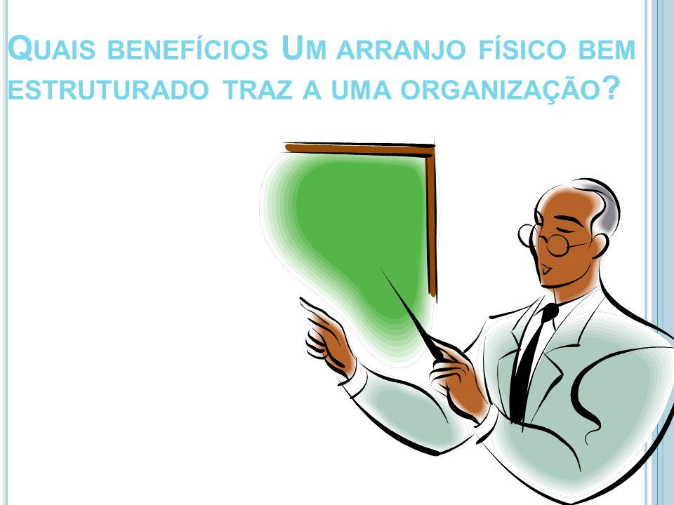 Quais benefícios Um arranjo físico bem estruturado traz a uma organização