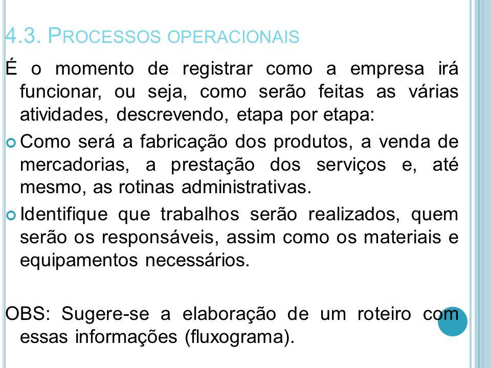 4.3. Processos operacionais