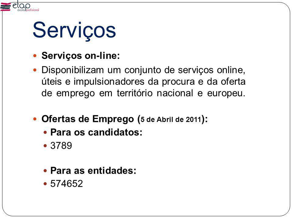Serviços Serviços on-line: