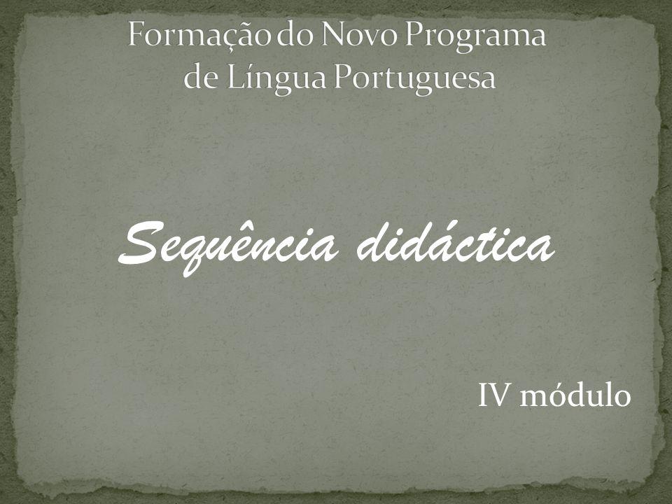 Formação do Novo Programa de Língua Portuguesa