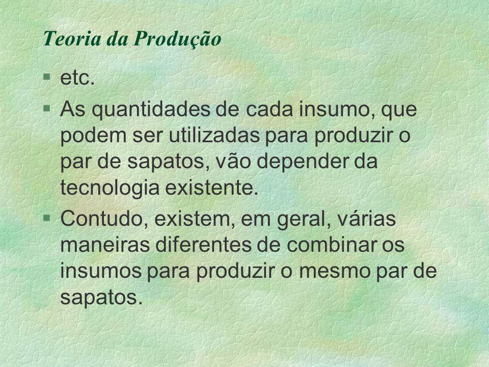 Teoria da Produção etc.