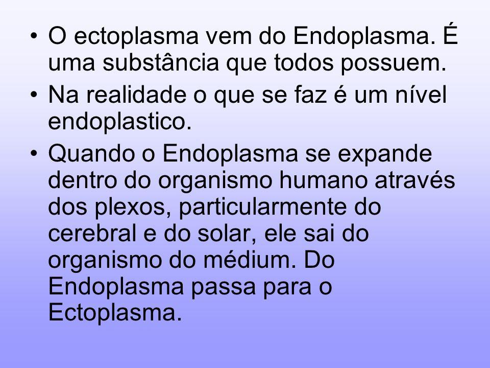 O ectoplasma vem do Endoplasma. É uma substância que todos possuem.