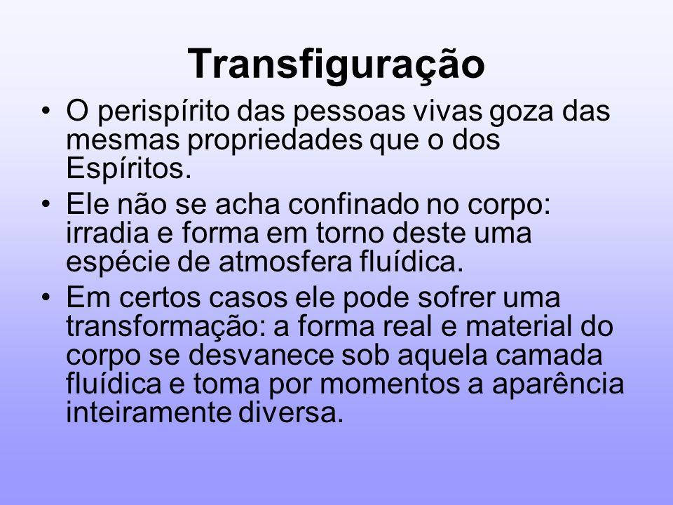 TransfiguraçãoO perispírito das pessoas vivas goza das mesmas propriedades que o dos Espíritos.