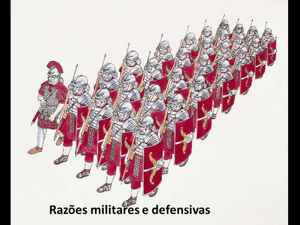 Razões militares e defensivas