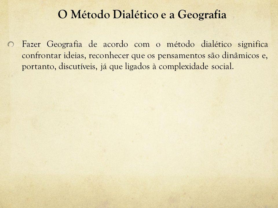O Método Dialético e a Geografia