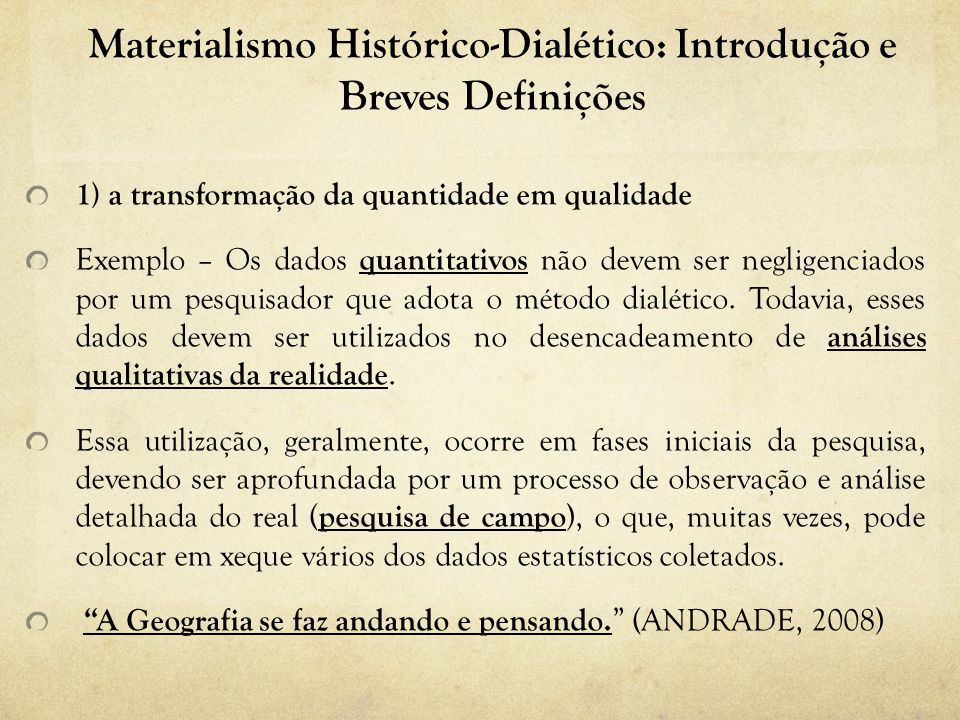 Materialismo Histórico-Dialético: Introdução e Breves Definições
