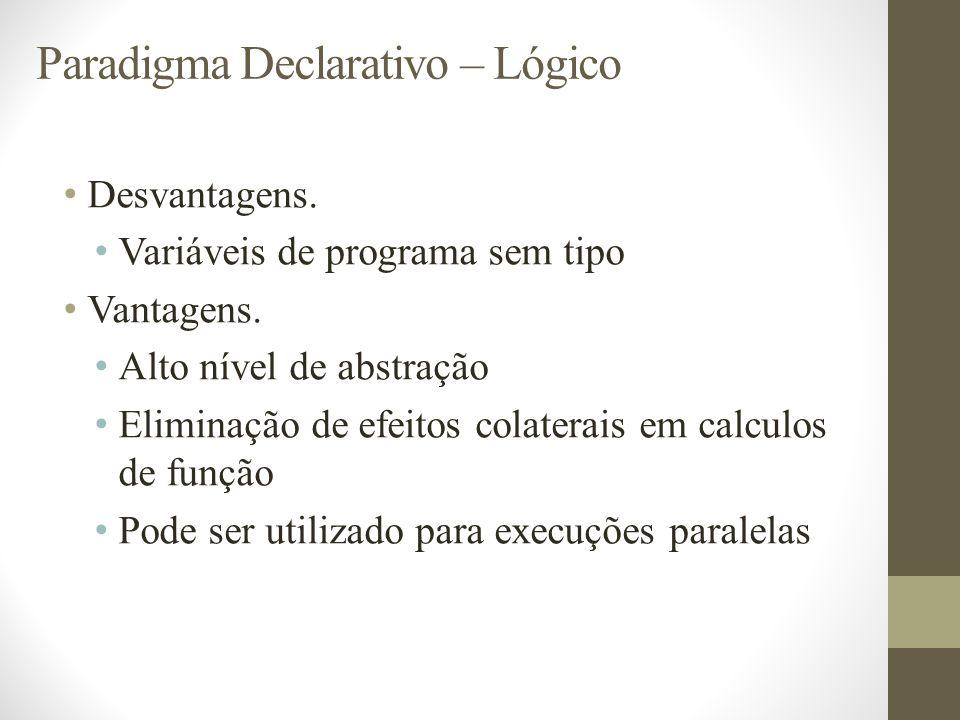 Paradigma Declarativo – Lógico