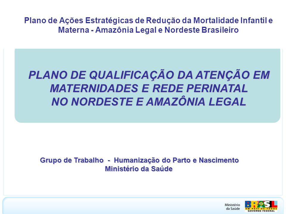 MINISTÉRIO DA SAÚDE Plano de Ações Estratégicas de Redução da Mortalidade Infantil e Materna - Amazônia Legal e Nordeste Brasileiro.