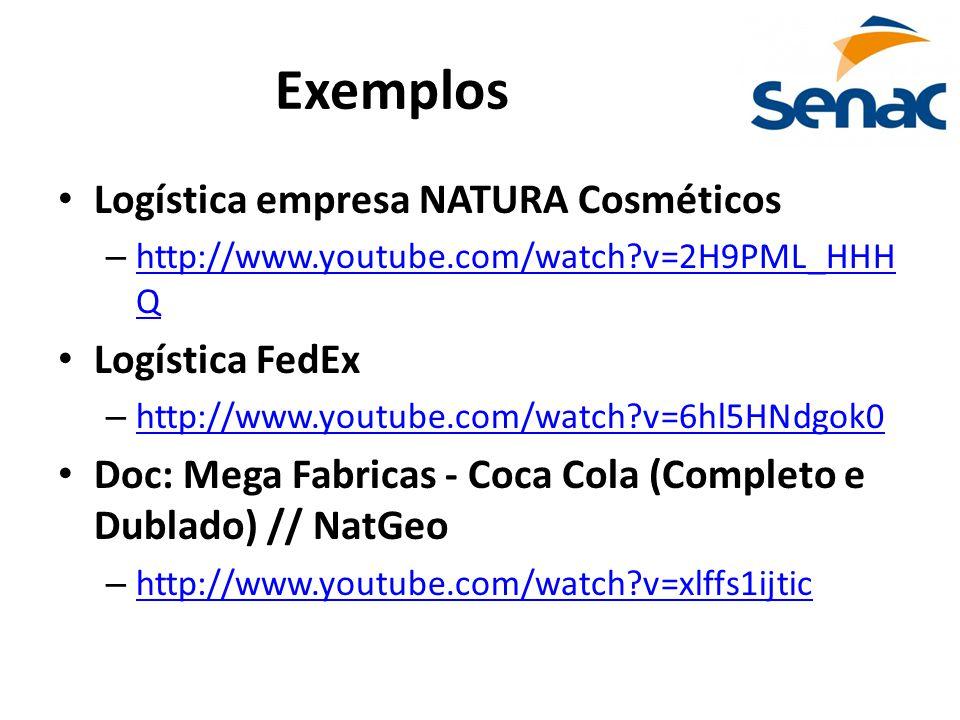 Exemplos Logística empresa NATURA Cosméticos Logística FedEx