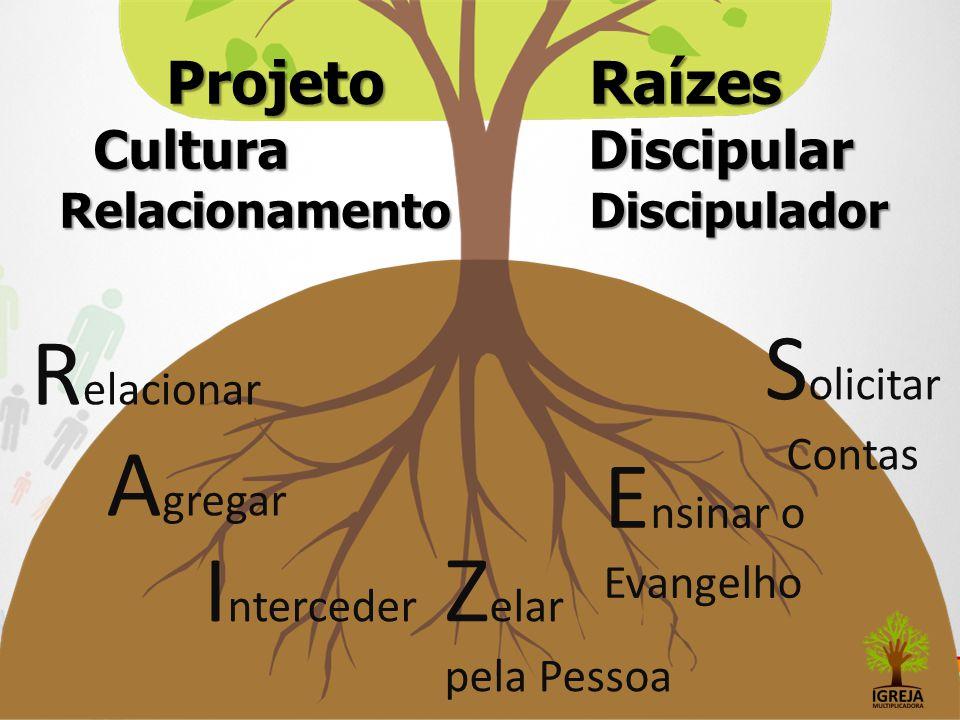 Projeto Raízes Cultura Discipular Relacionamento Discipulador