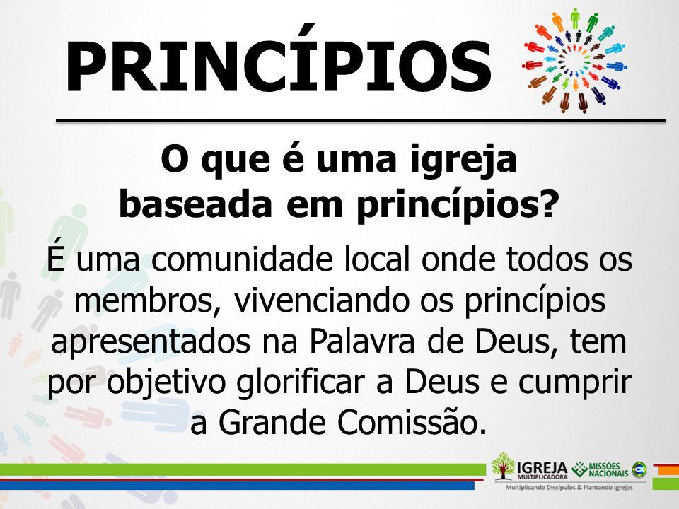 PRINCÍPIOS O que é uma igreja baseada em princípios