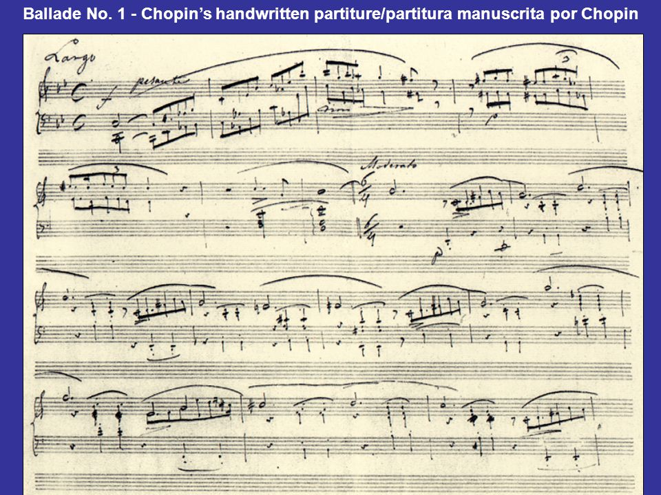 Ballade No. 1 - Chopin's handwritten partiture/partitura manuscrita por Chopin