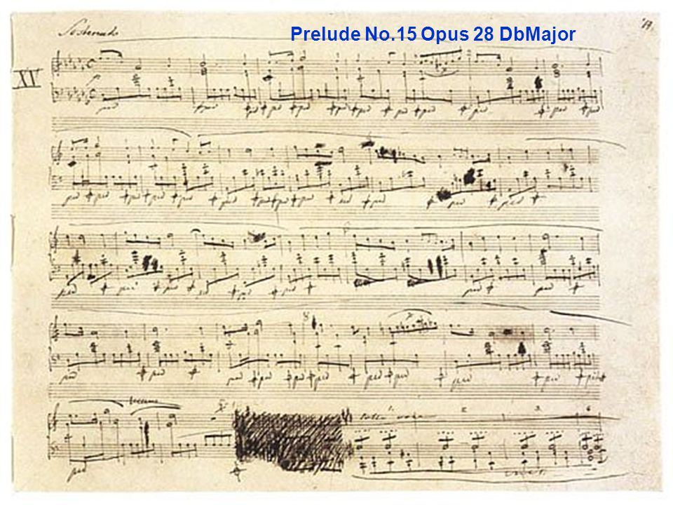 Prelude No.15 Opus 28 DbMajor
