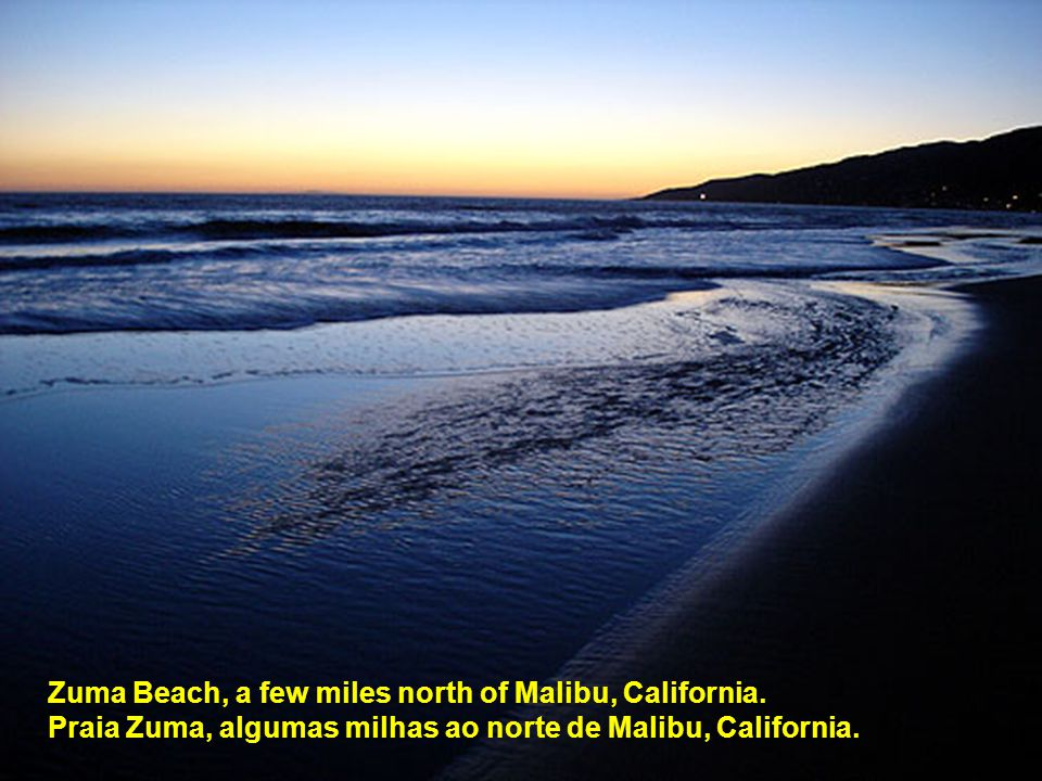 Zuma Beach, a few miles north of Malibu, California