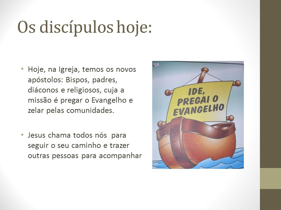 Os discípulos hoje: