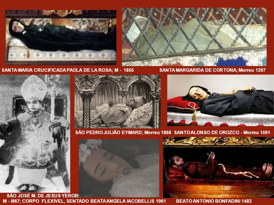 SANTA MARIA CRUCIFICADA PAOLA DE LA ROSA; M - 1855 SANTA MARGARIDA DE CORTONA; Morreu 1297