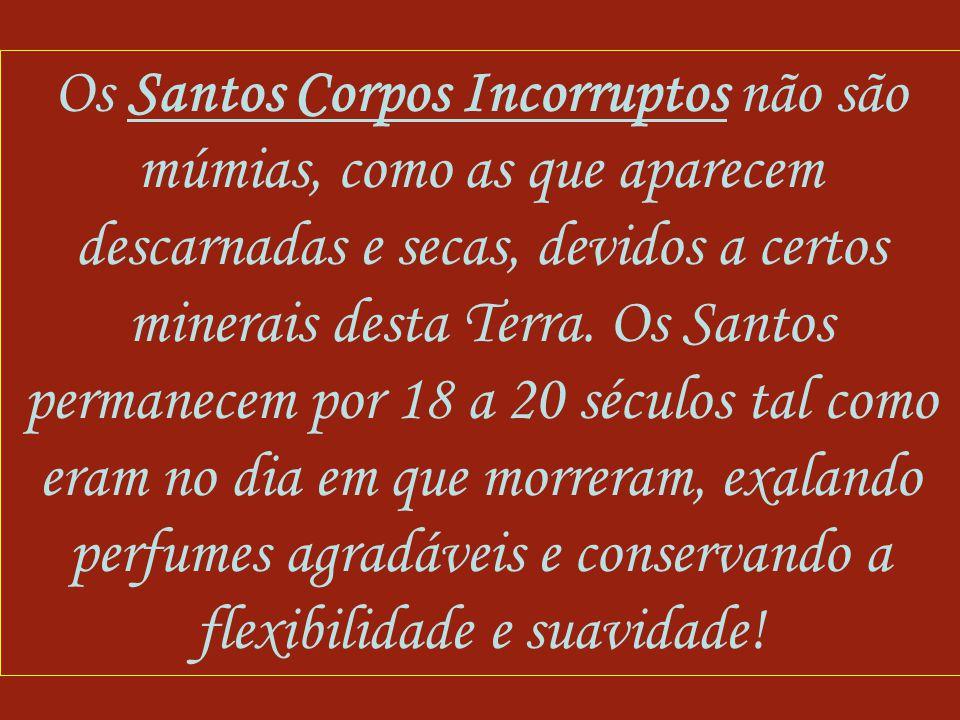 Os Santos Corpos Incorruptos não são múmias, como as que aparecem descarnadas e secas, devidos a certos minerais desta Terra.