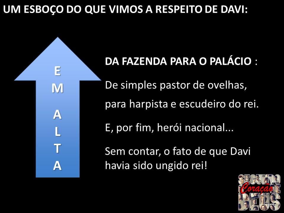 E M A L T UM ESBOÇO DO QUE VIMOS A RESPEITO DE DAVI: