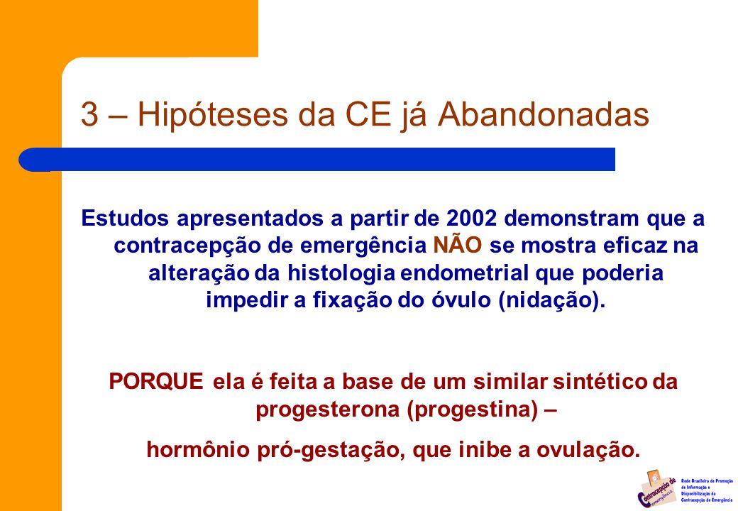 3 – Hipóteses da CE já Abandonadas
