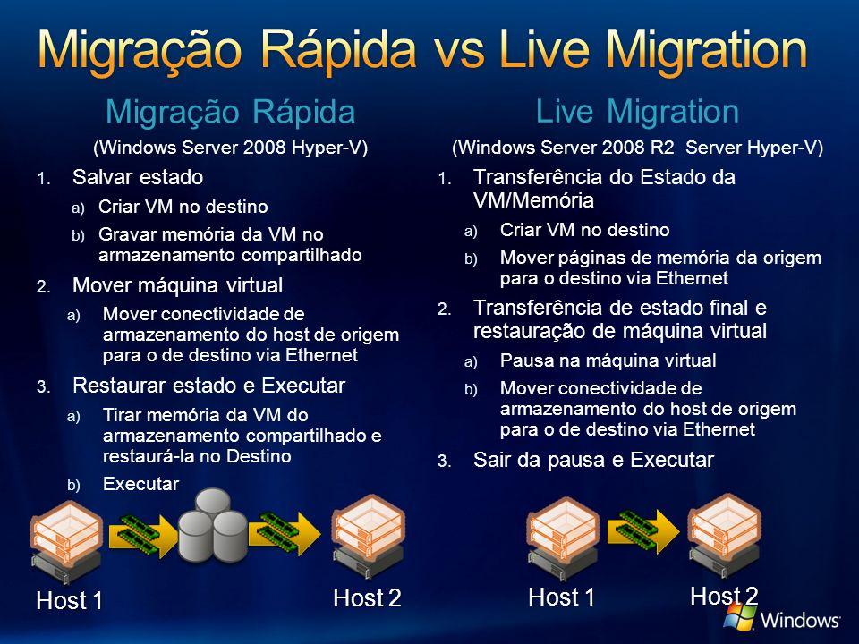 Migração Rápida vs Live Migration