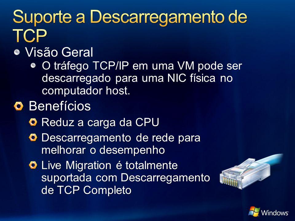 Suporte a Descarregamento de TCP