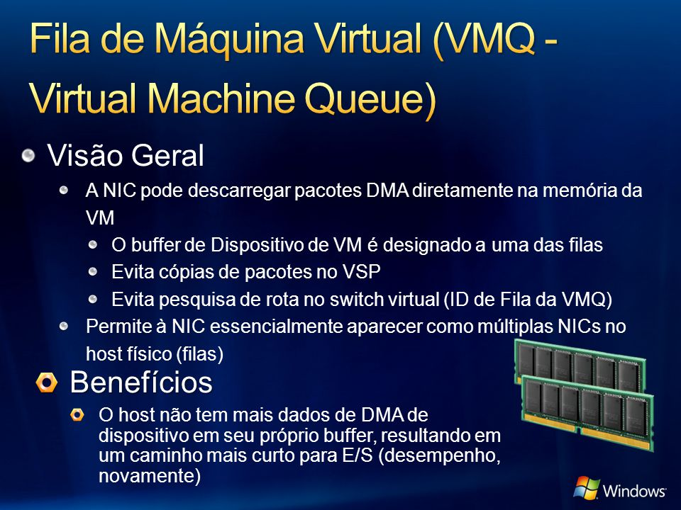 Fila de Máquina Virtual (VMQ - Virtual Machine Queue)