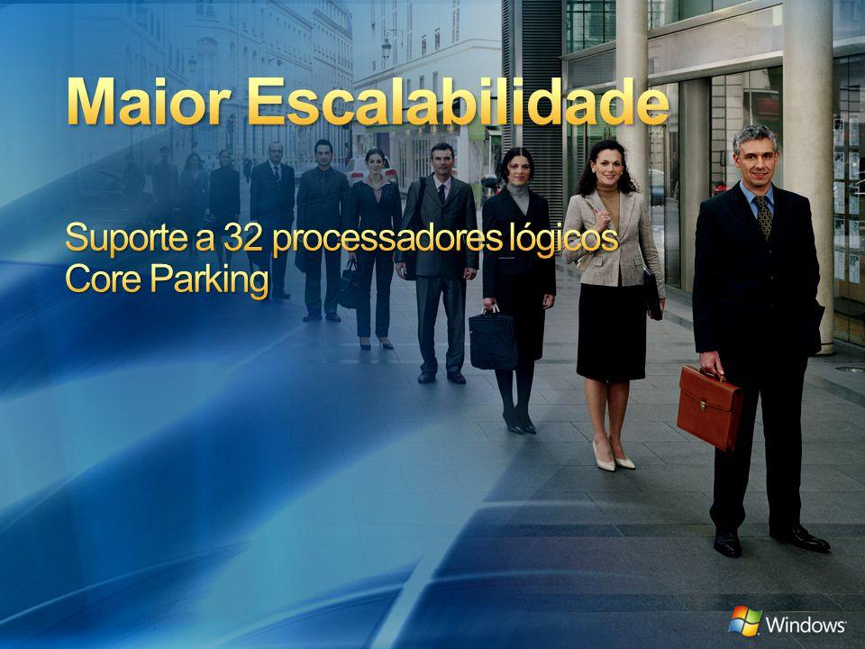 Maior Escalabilidade Suporte a 32 processadores lógicos Core Parking