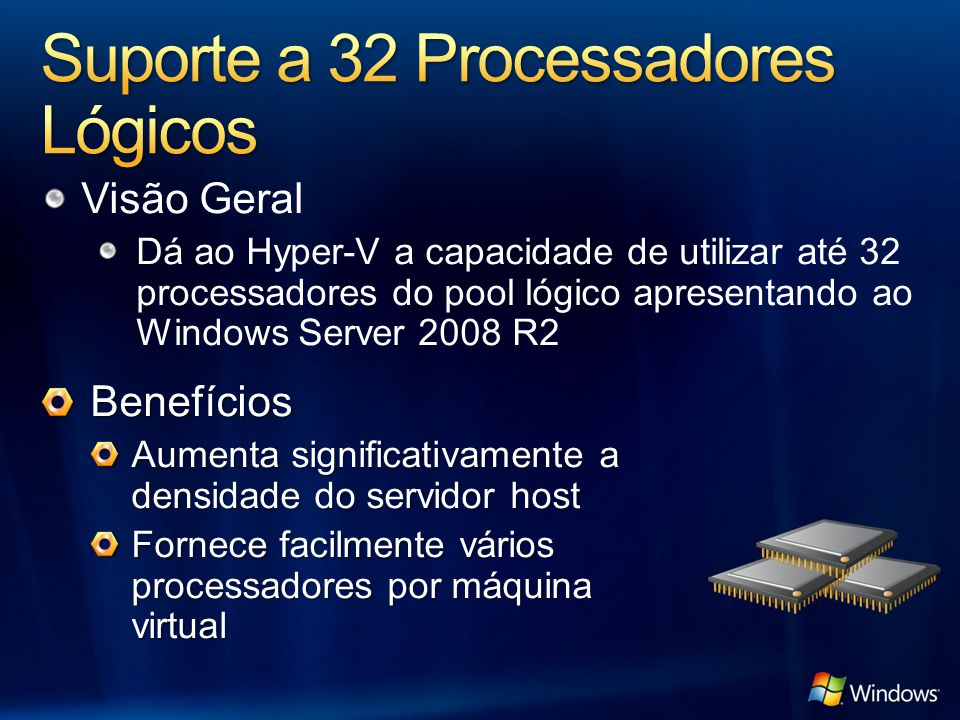 Suporte a 32 Processadores Lógicos