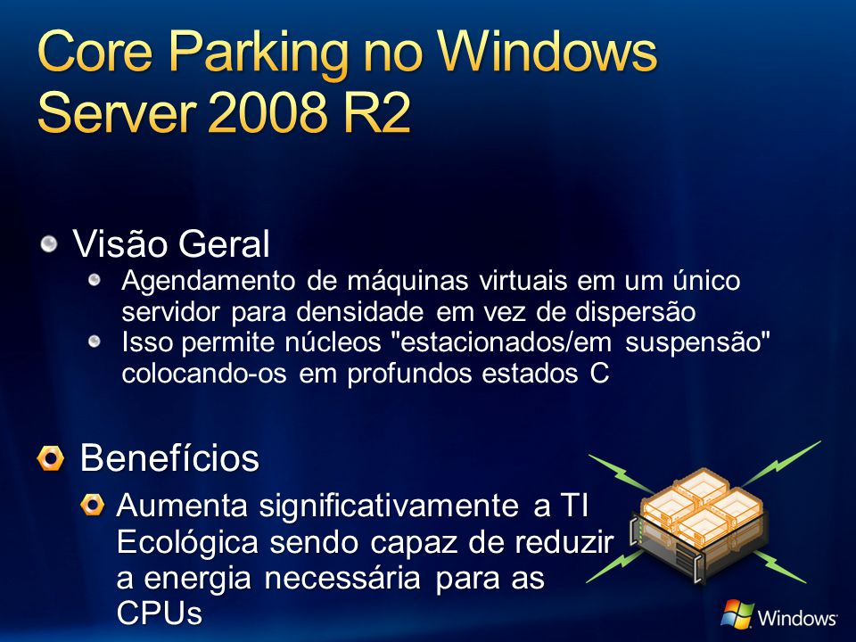Core Parking no Windows Server 2008 R2