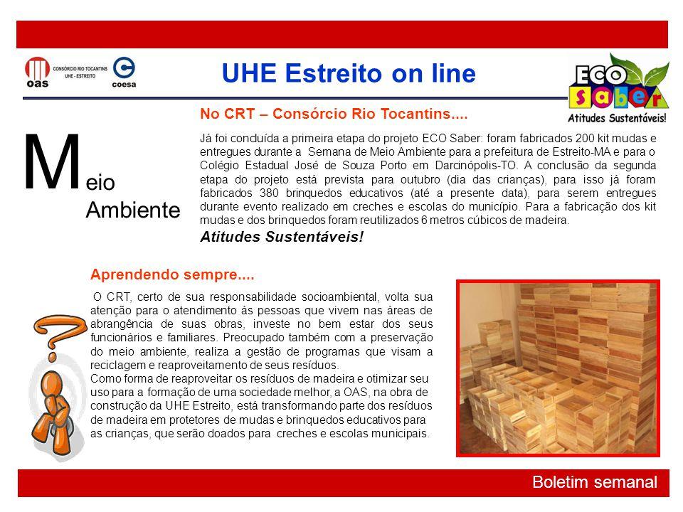 M eio Ambiente No CRT – Consórcio Rio Tocantins....