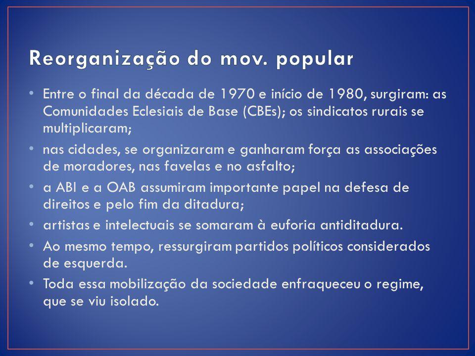 Reorganização do mov. popular