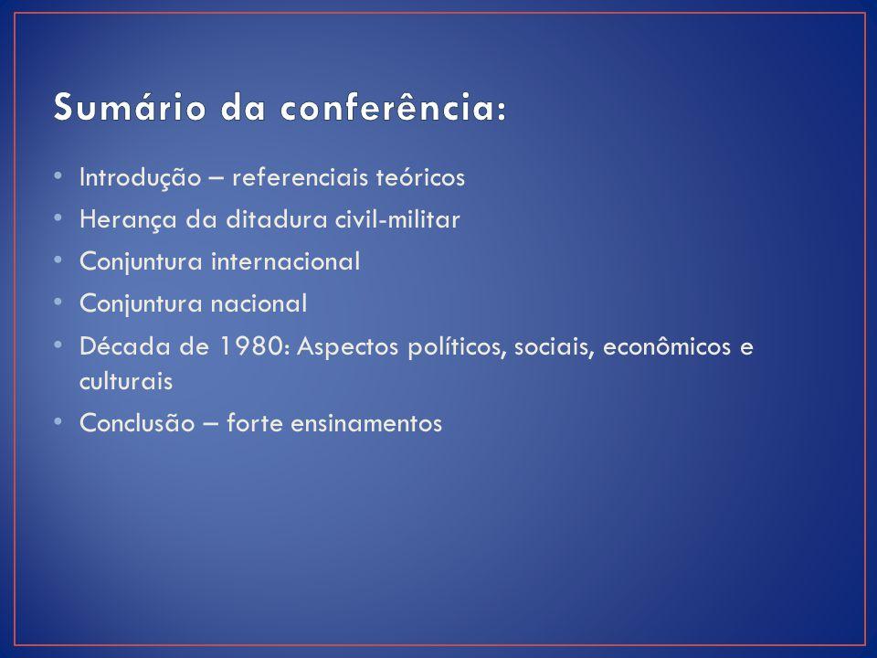 Sumário da conferência: