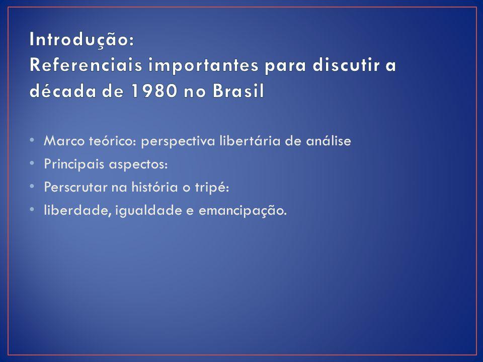Introdução: Referenciais importantes para discutir a década de 1980 no Brasil