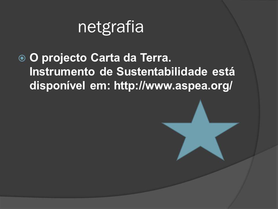 netgrafia O projecto Carta da Terra.