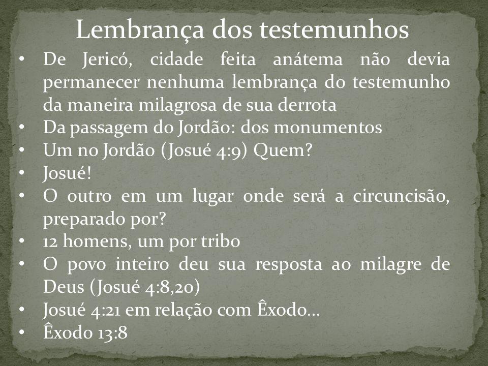 Lembrança dos testemunhos