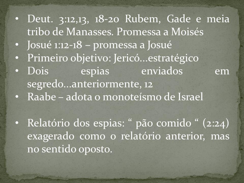 Josué 1:12-18 – promessa a Josué