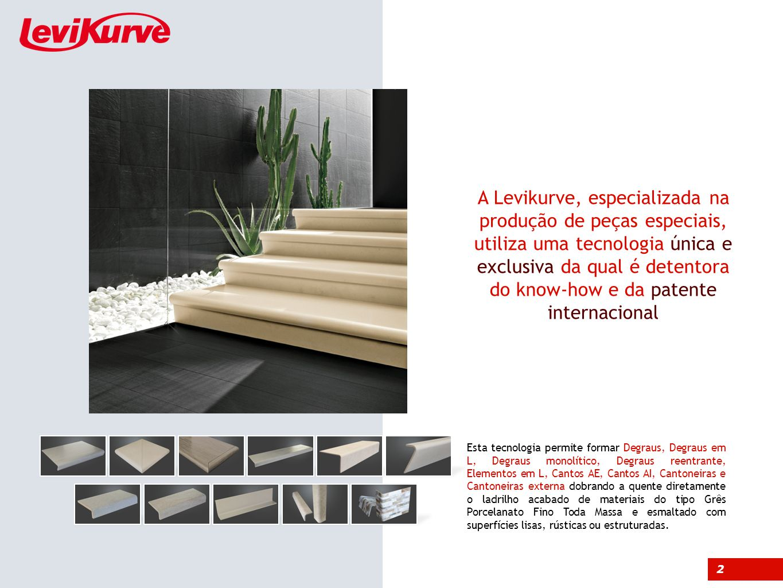 A Levikurve, especializada na produção de peças especiais, utiliza uma tecnologia única e exclusiva da qual é detentora do know-how e da patente internacional