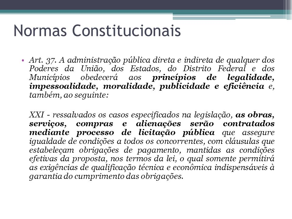 Normas Constitucionais
