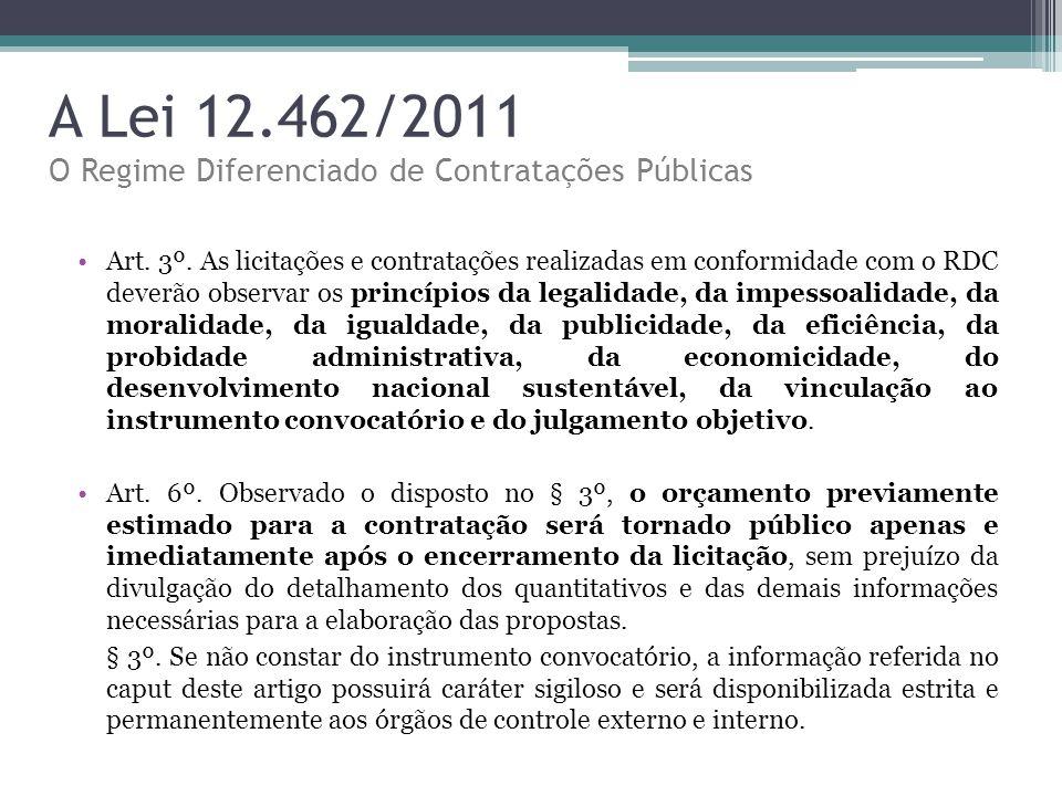 A Lei 12.462/2011 O Regime Diferenciado de Contratações Públicas