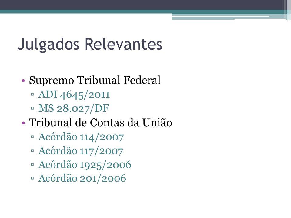 Julgados Relevantes Supremo Tribunal Federal