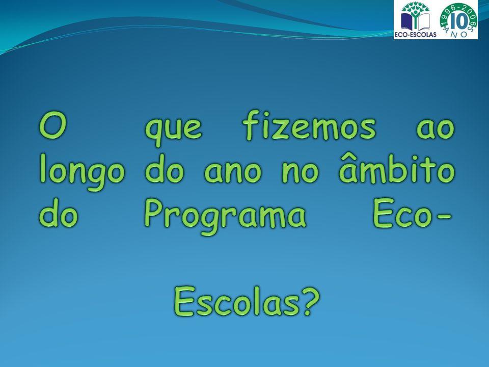 2.ºEco-conselho- EB1 Areias de Vilar 2009/2010 O que fizemos ao longo do ano no âmbito do Programa Eco- Escolas