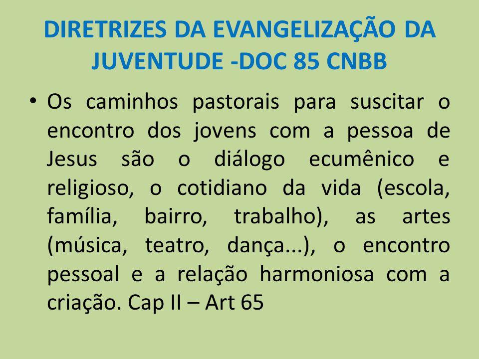 DIRETRIZES DA EVANGELIZAÇÃO DA JUVENTUDE -DOC 85 CNBB