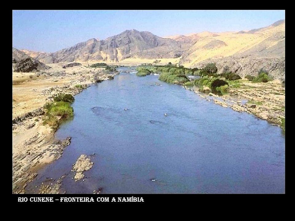 Rio cunene – fronteira com a namíbia