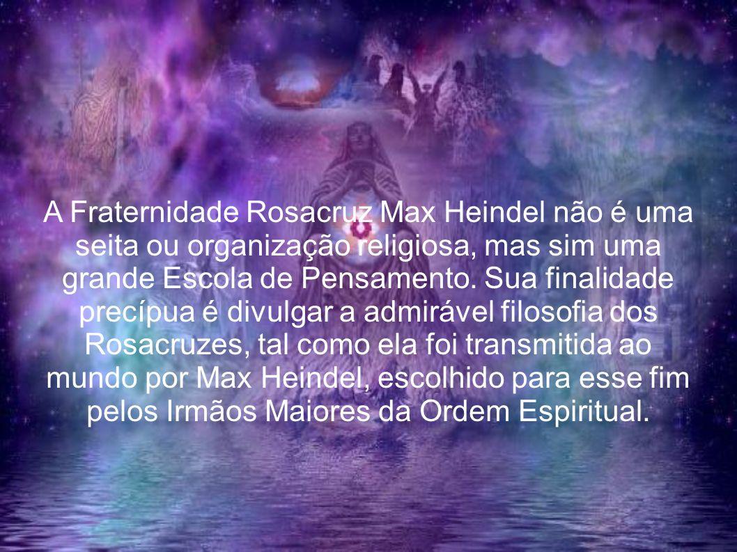 A Fraternidade Rosacruz Max Heindel não é uma seita ou organização religiosa, mas sim uma grande Escola de Pensamento. Sua finalidade precípua é divulgar a admirável filosofia dos Rosacruzes, tal como ela foi transmitida ao mundo por Max Heindel, escolhido para esse fim pelos Irmãos Maiores da Ordem Espiritual.