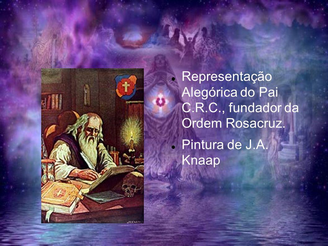 Representação Alegórica do Pai C.R.C., fundador da Ordem Rosacruz.