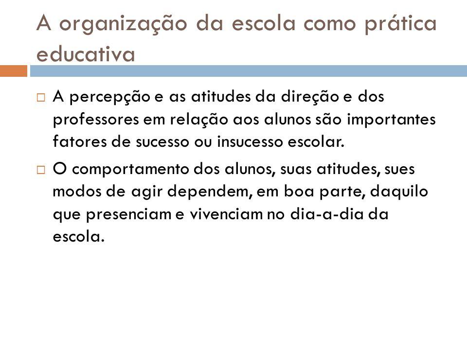 A organização da escola como prática educativa